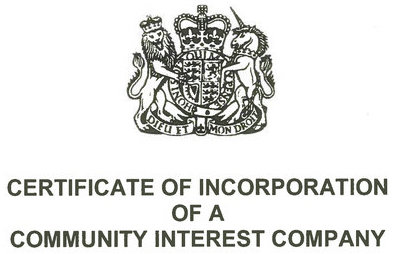 Community Interest Company certificate